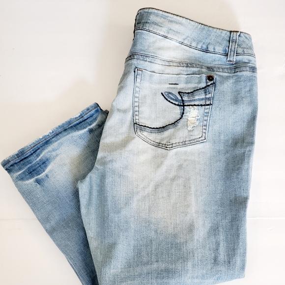 Torrid Skinny Destroyed Distressed Jeans